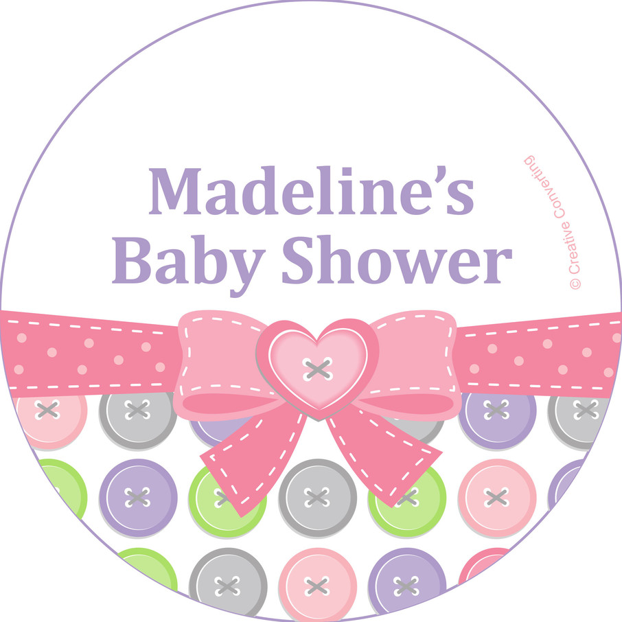 View larger image of Cute as a Button Girl Personalized Mini Stickers (Sheet of 24)