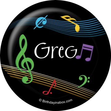 Dancing Music Personalized Button (Each)
