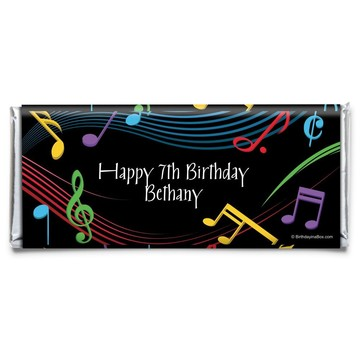 Dancing Music Personalized Candy Bar Wrapper (Each)