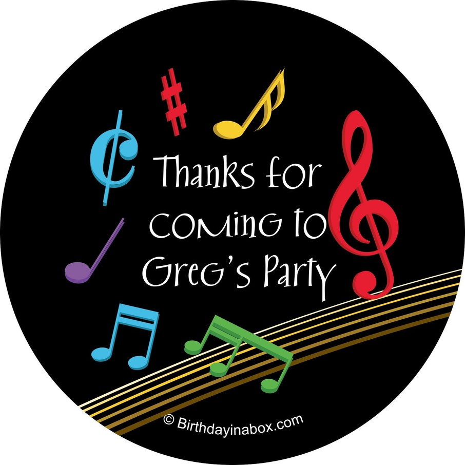 View larger image of Dancing Music Personalized Stickers (Sheet of 12)