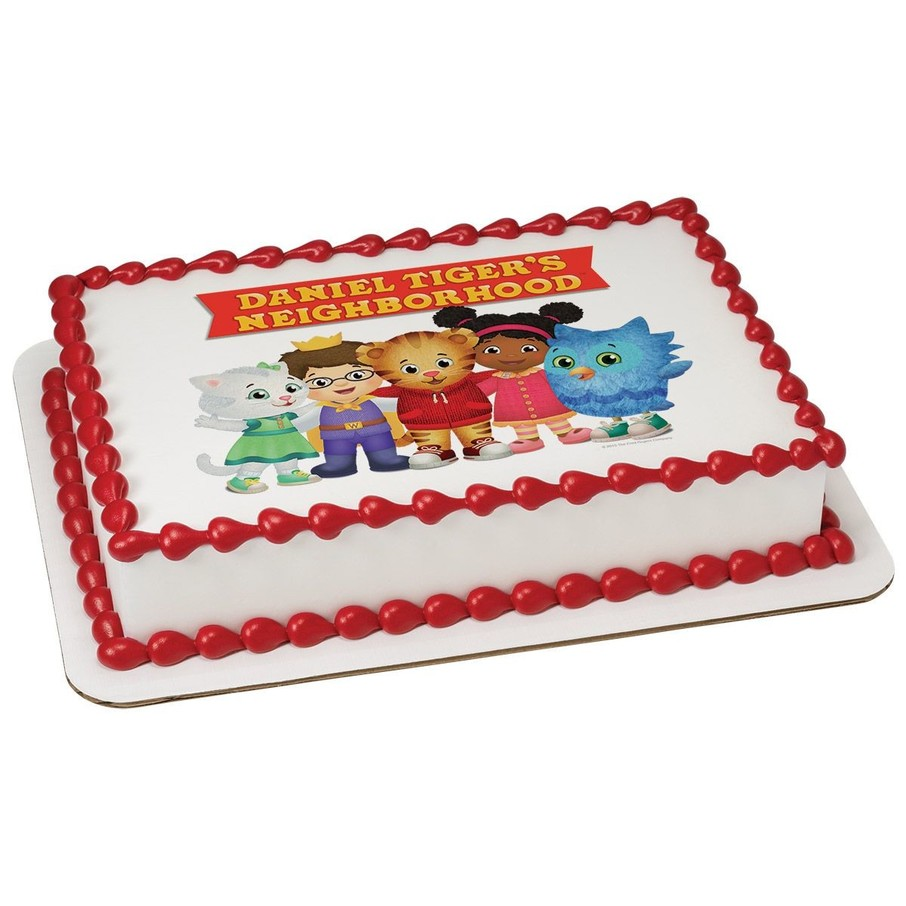View larger image of Daniel Tiger Neighborhood Friends Quarter Sheet Edible Cake Topper (Each)