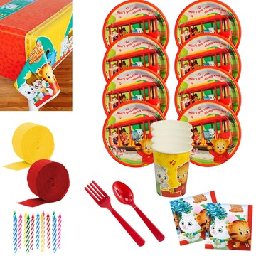 Daniel Tiger's Neighborhood Deluxe Birthday Party Tableware Kit (Serves 8)
