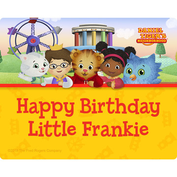 Daniel Tiger's Neighborhood Personalized Rectangular Stickers (Sheet of 15)