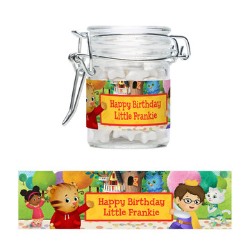 Daniel Tiger's Neighborhood Personalized Swing Top Apothecary Jars (12 ct)