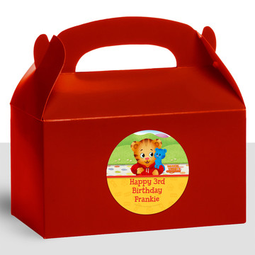 Daniel Tiger's Neighborhood Personalized Treat Favor Boxes (12 Count)