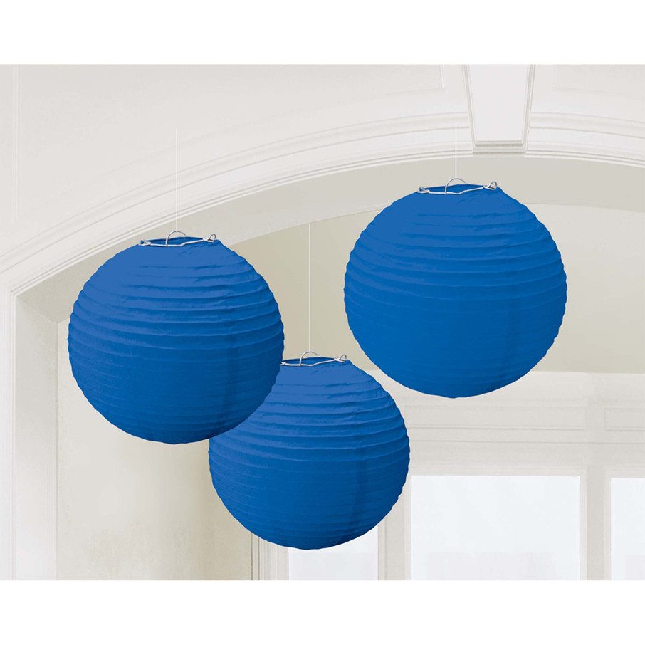 View larger image of Dark Blue Paper Lantern Decorations (3 Count)