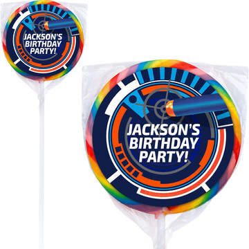 Dart Game Personalized Lollipops (12 Pack)