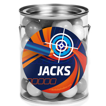 Dart Game Personalized Mini Paint Cans (12 Count)