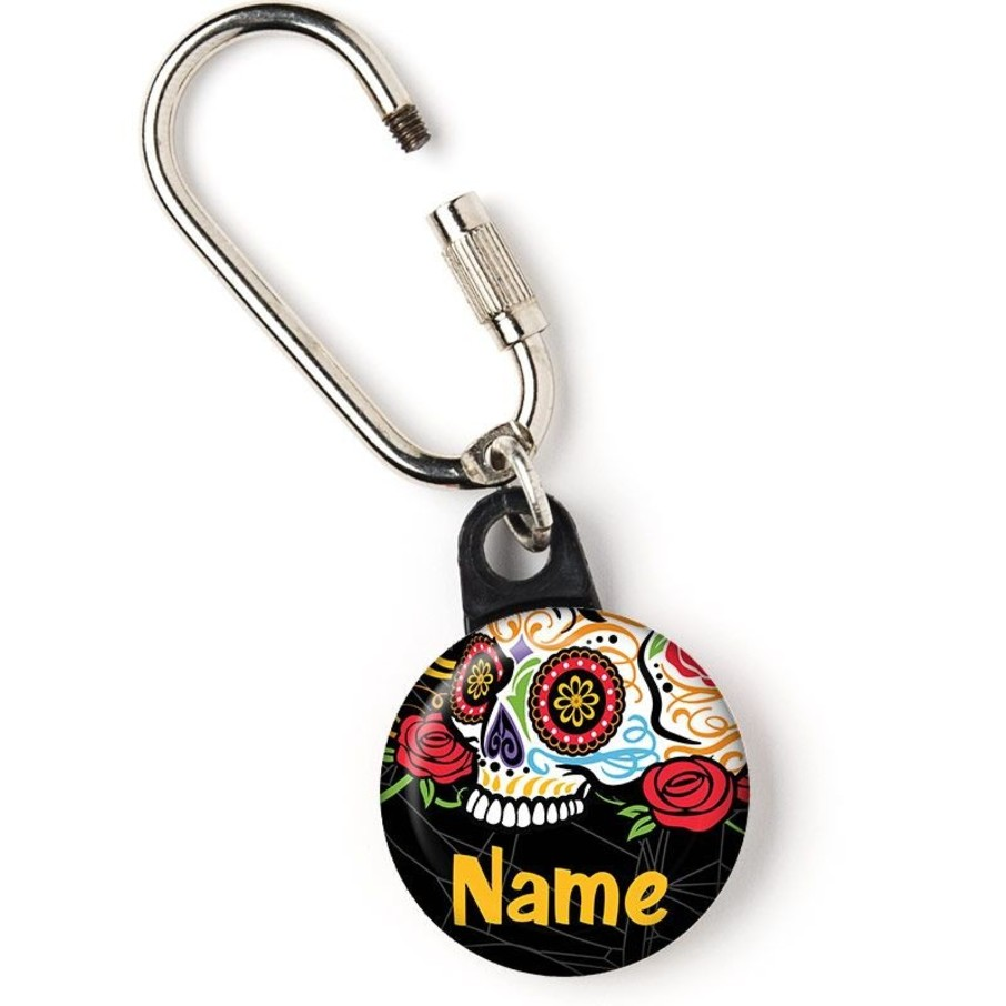 """View larger image of Day of the Dead Personalized 1"""" Carabiner (Each)"""