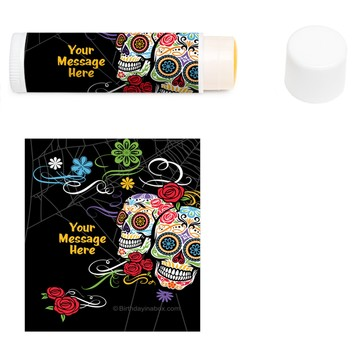 Day of the Dead Personalized Lip Balm (12 Pack)