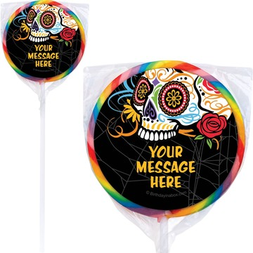Day of the Dead Personalized Lollipops (12 Pack)