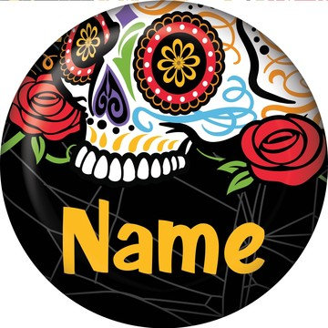 Day of the Dead Personalized Mini Button (Each)