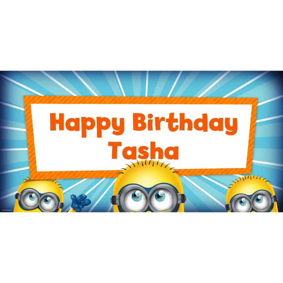 """View larger image of Despicable Me Personalized Oversized Banner 60x30"""""""