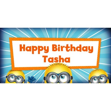 """Despicable Me Personalized Oversized Banner 60x30"""""""