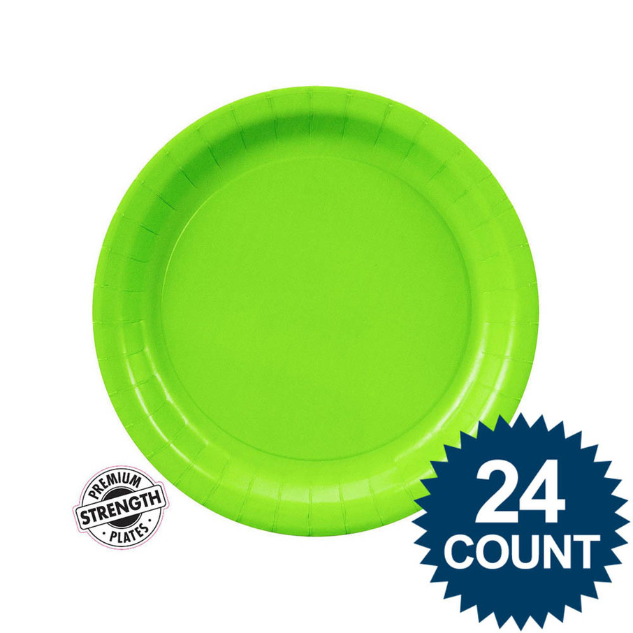 View larger image of Dessert Plate - Lime Green (24)