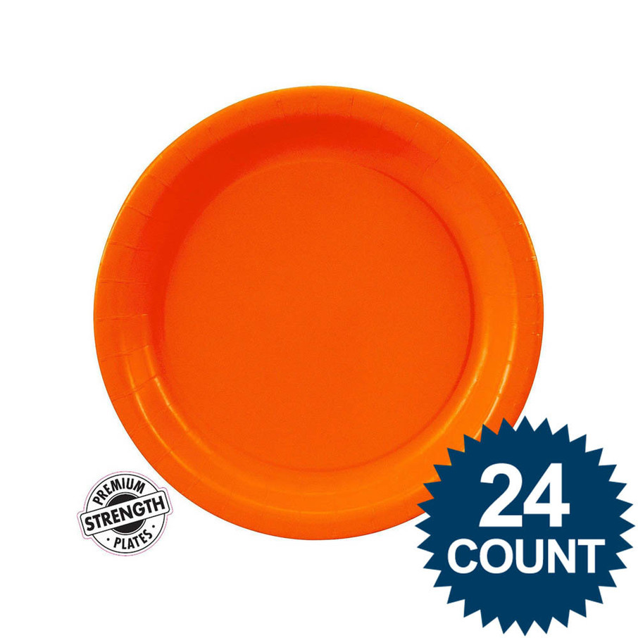 View larger image of Dessert Plate - Orange (24)
