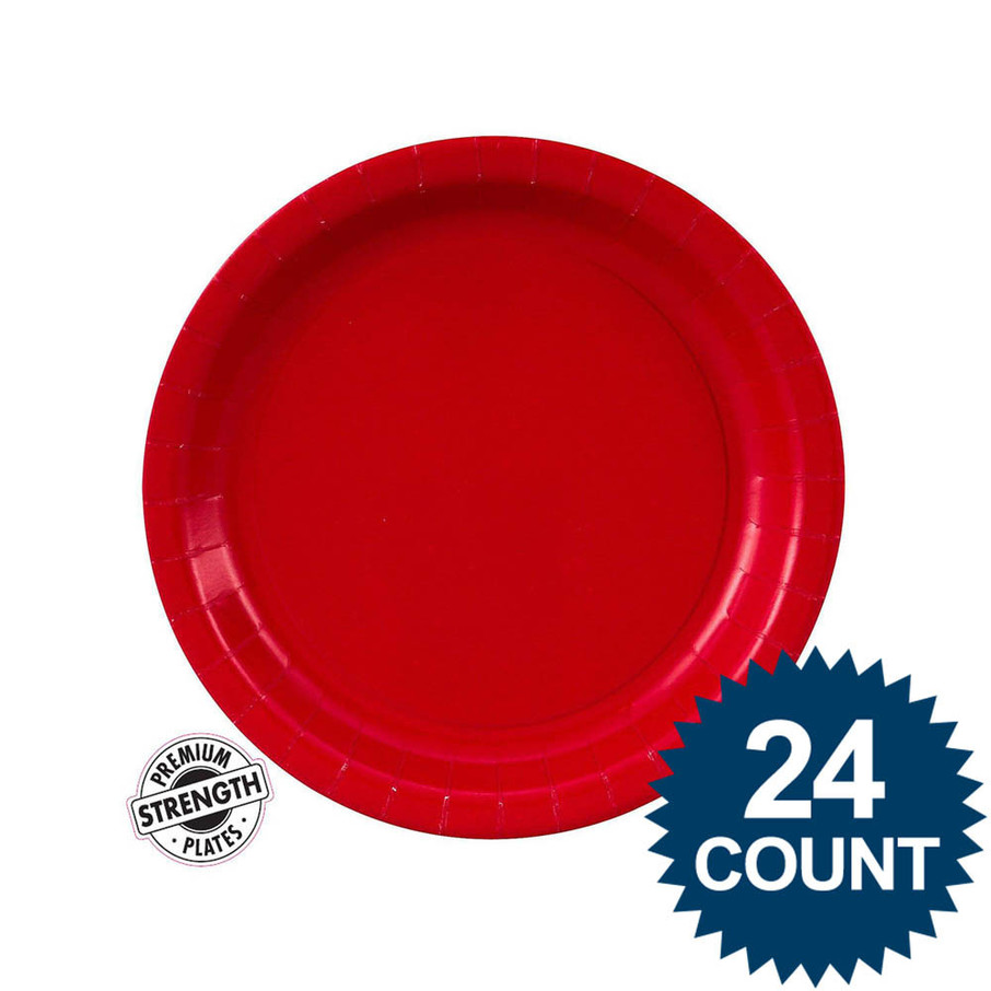 View larger image of Dessert Plate - Red (24)
