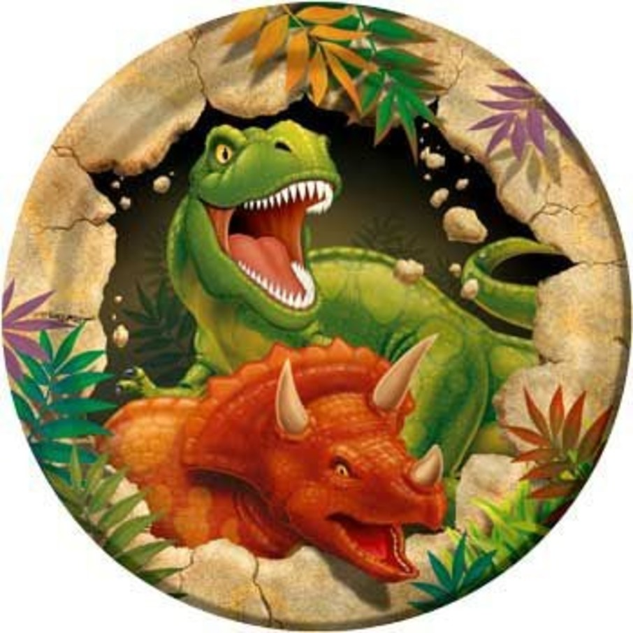 View larger image of Dinosaur Adventure Cake Plates (8-pack)