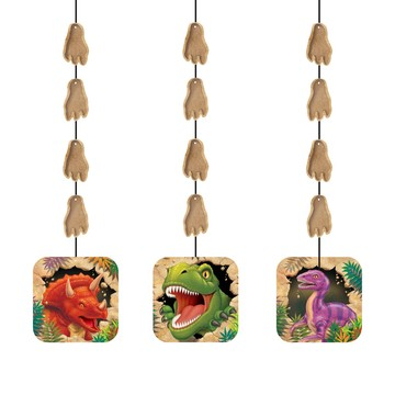 Dinosaur Adventure Dangling Cutout (3-pack)