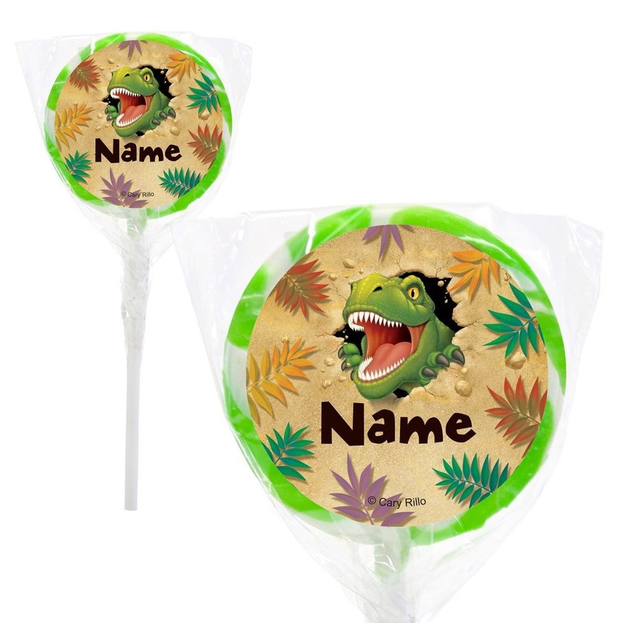 "View larger image of Dinosaur Adventure Personalized 2"" Lollipops (20 Pack)"