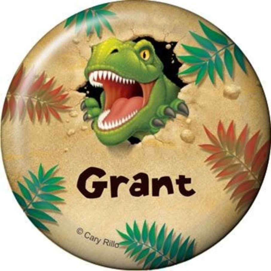 View larger image of Dinosaur Adventure Personalized Button (each)