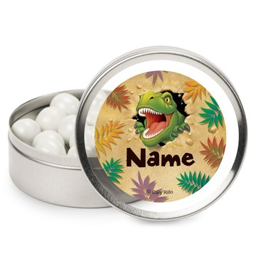 Dinosaur Adventure Personalized Candy Tins (12 Pack)