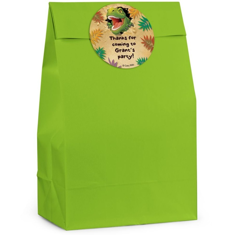 View larger image of Dinosaur Adventure Personalized Favor Bag (Set Of 12)