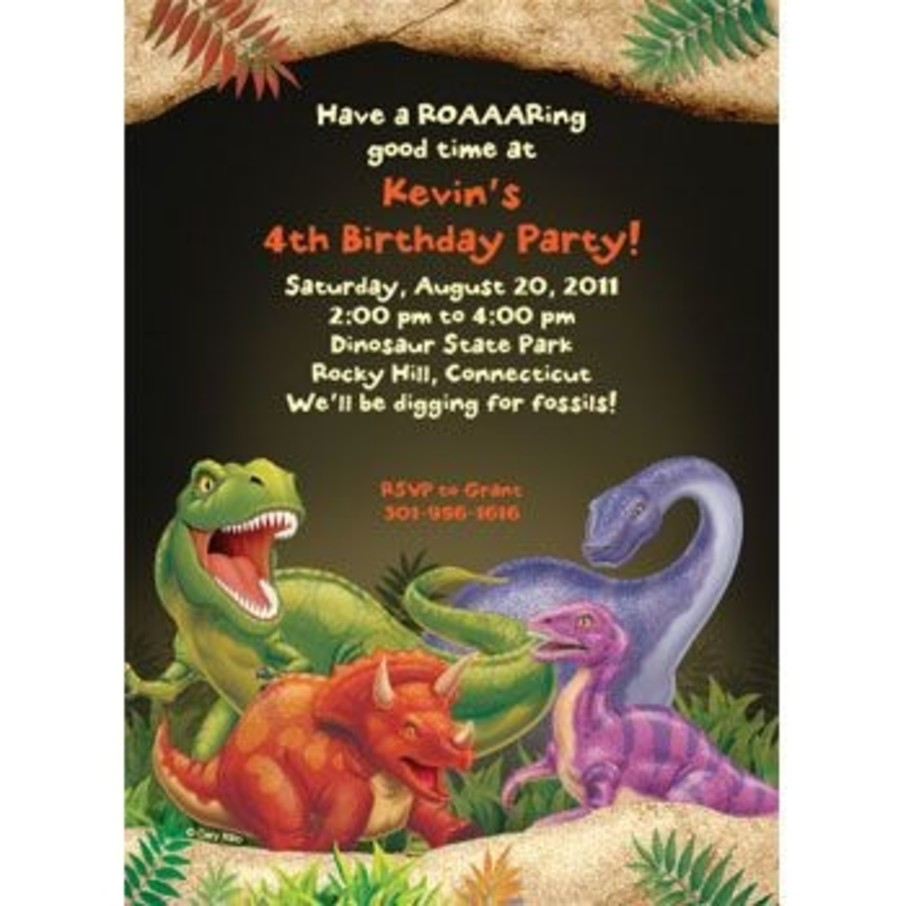 View larger image of Dinosaur Adventure Personalized Invitation (each)