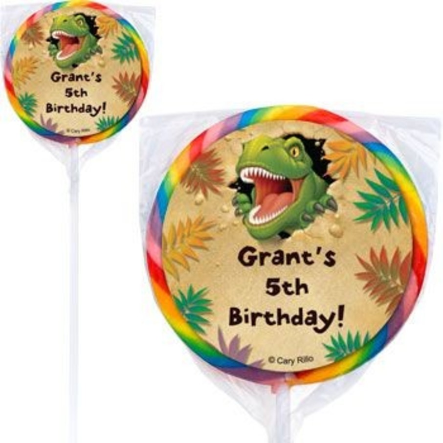 View larger image of Dinosaur Adventure Personalized Lollipops (pack of 12)