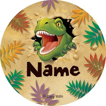 Dinosaur Adventure Personalized Mini Stickers (Sheet of 24)