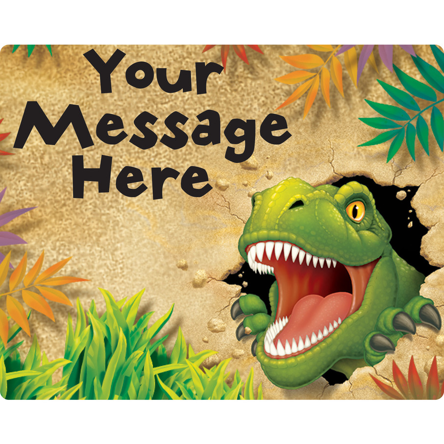 View larger image of Dinosaur Adventure Personalized Rectangular Stickers (Sheet of 15)