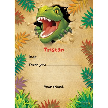Dinosaur Adventure Personalized Thank You Note (each)
