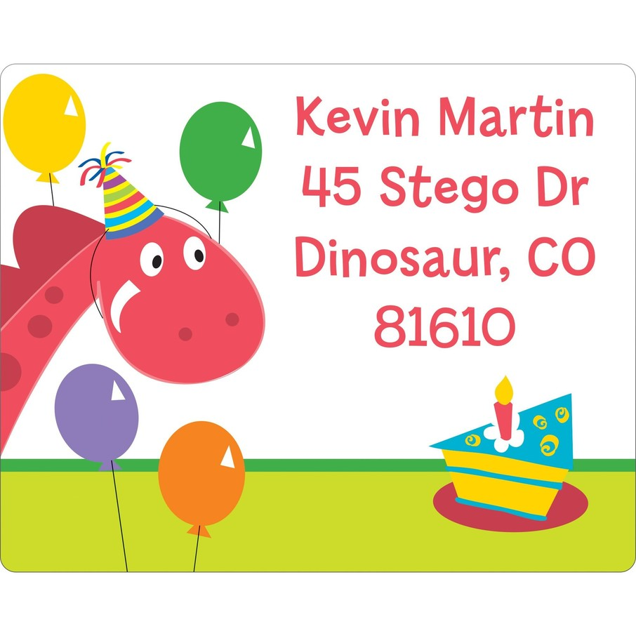 View larger image of Dinosaur Birthday Personalized Address Label