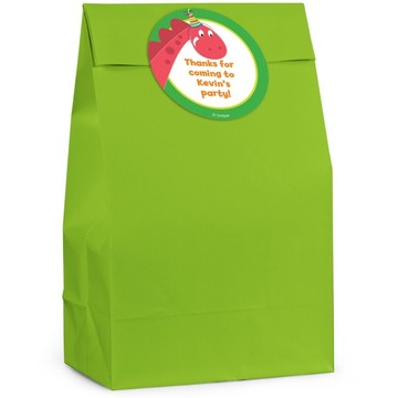 Dinosaur Birthday Personalized Favor Bag (Set Of 12)
