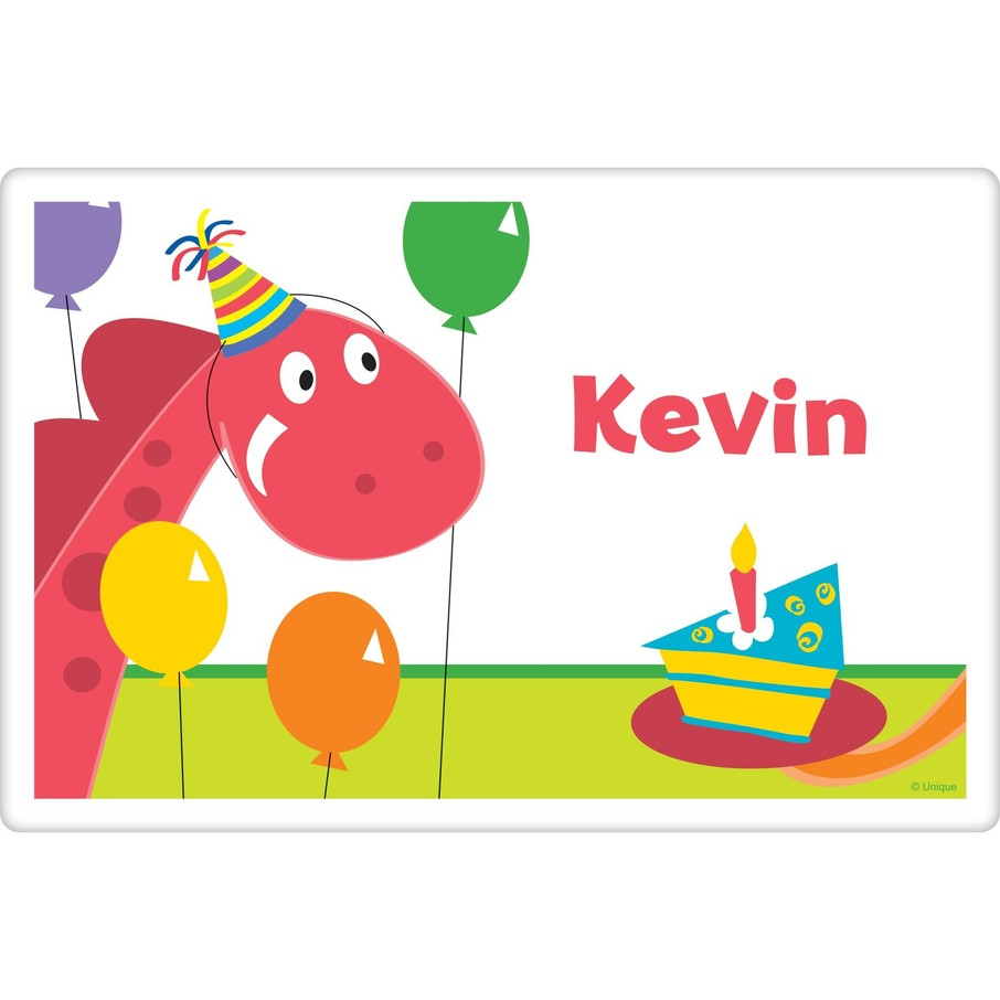 View larger image of Dinosaur Birthday Personalized Placemat (each)