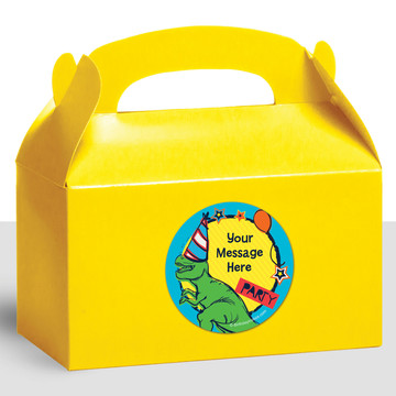 Dinosaur Fun Personalized Treat Favor Boxes (12 Count)