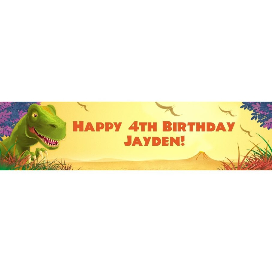 View larger image of Dinosaur Party Personalized Banner (each)