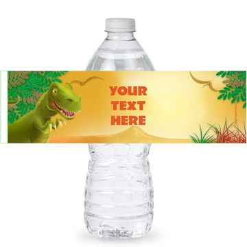 Dinosaur Party Personalized Bottle Labels (Sheet of 4)