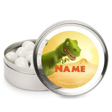 Dinosaur Party Personalized Candy Tins (12 Pack)