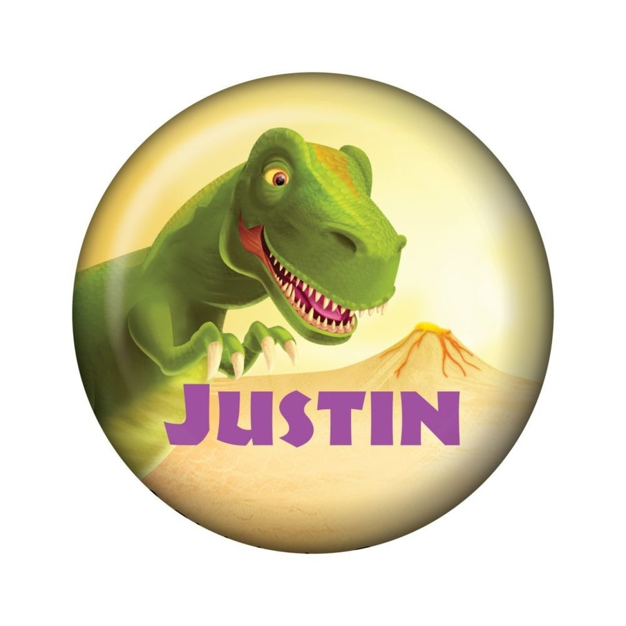 View larger image of Dinosaur Party Personalized Mini Button (each)