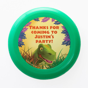 Dinosaur Party Personalized Mini Discs (Set of 12)
