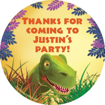 Dinosaur Party Personalized Stickers (Sheet Of 12)