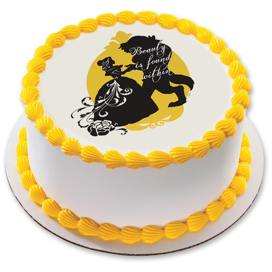 """View larger image of Disney Beauty and the Beast 7.5"""" Round Edible Cake Topper (Each)"""