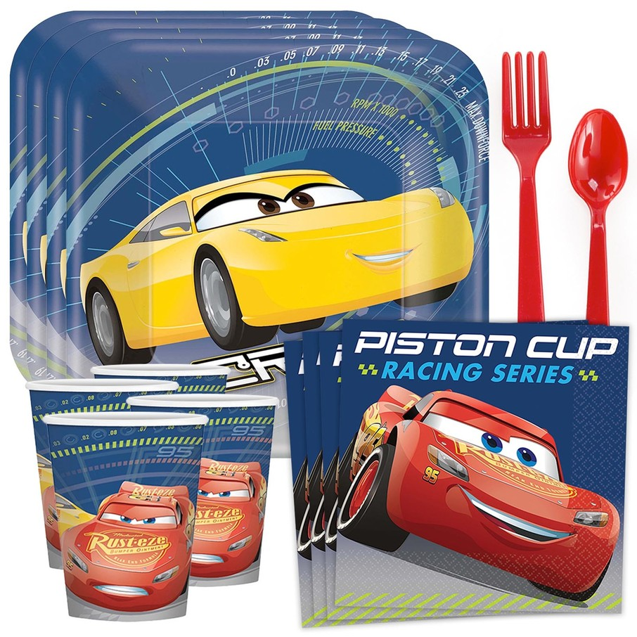 View larger image of Disney Cars Standard Tableware Kit (Serves 8)