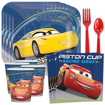 Disney Cars Standard Tableware Kit (Serves 8)
