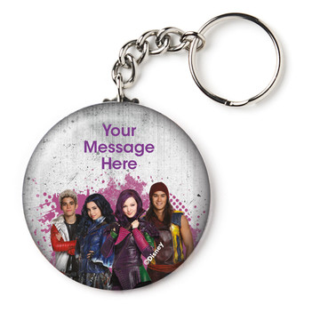 "Disney Descendants Personalized 2.25"" Key Chain (Each)"