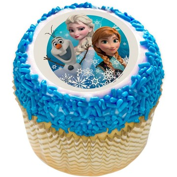 "Disney Frozen 2"" Edible Cupcake Topper (12 Images)"