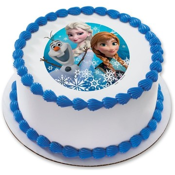 "Disney Frozen 7.5"" Round Edible Cake Topper (Each)"