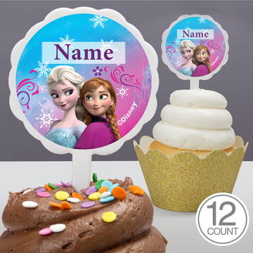 Disney Frozen Personalized Cupcake Picks (12 Count)