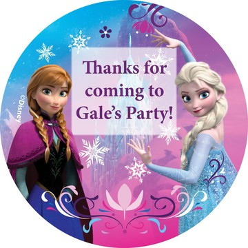 Disney Frozen Personalized Stickers (Sheet of 12)
